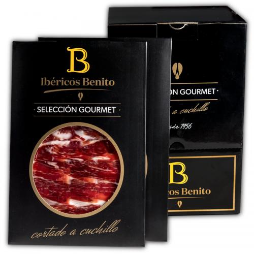 Jamón De Bellota 100% Ibérico BENITO Loncheado Cortado a Cuchillo 100gr.