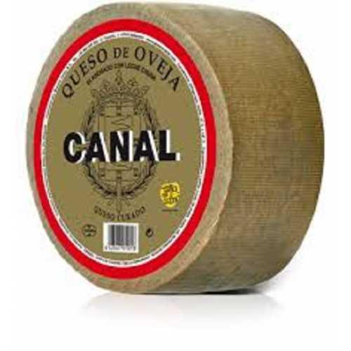 """QUESO OVEJA CURADO """"CANAL"""" pieza de 700 grs. 100% LECHE CRUDA"""