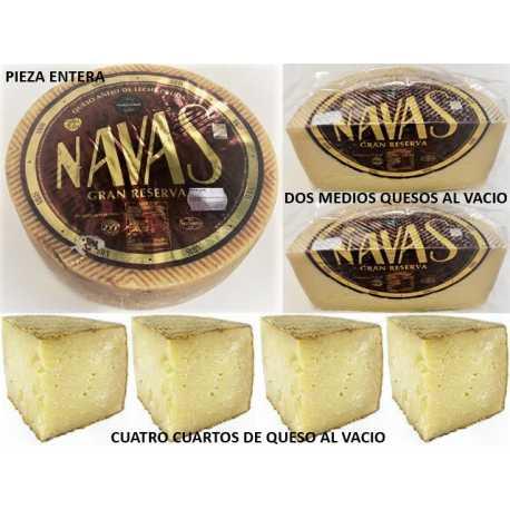 """QUESO PURO DE OVEJA SECO """"NAVAS"""" LECHE CRUDA"""