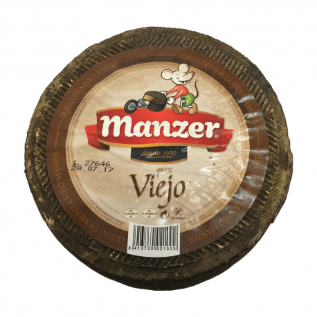 """Queso Curado MANZER Viejo """"El Ratón"""" 3Kg."""
