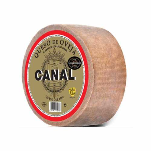 "DTO.20% - QUESO OVEJA CURADO ""CANAL"" piezas de 3 kilos. 100% LECHE CRUDA"