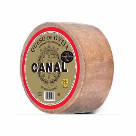 "QUESO OVEJA CURADO ""CANAL"" piezas de 3 kilos. 100% LECHE CRUDA"