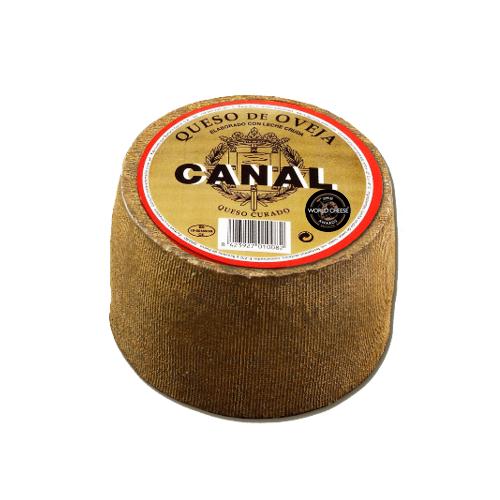 "QUESO OVEJA CURADO ""CANAL"" piezas de 1 kilo. 100% LECHE CRUDA"
